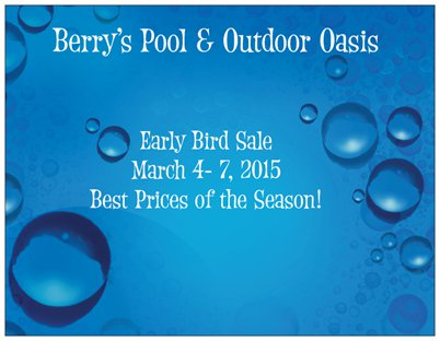 April Sale on Pool Chemicals and Pool Supplies